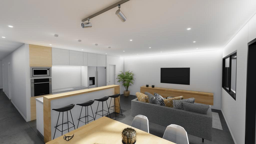 Salón-cocina panorámica 2